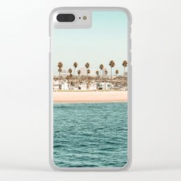 Vintage Newport Beach Print {1 of 4} | Photography Ocean Palm Trees Teal Tropical Summer Sky Clear iPhone Case