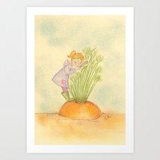 The carrot inspector Art Print
