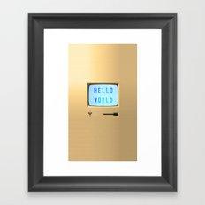 Hello World Personal Computer Framed Art Print