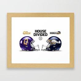 Queen / Viking House Divided Framed Art Print