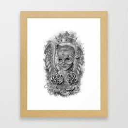 Art Design Queen of angels (Reina de los ángeles) Framed Art Print