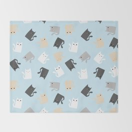 Scattercats Throw Blanket