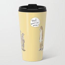 Cat & Meerkats Travel Mug