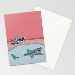 Shark and Kitty Stationery Cards