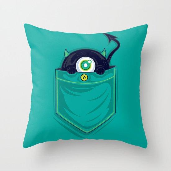 Pocket Monster Throw Pillow