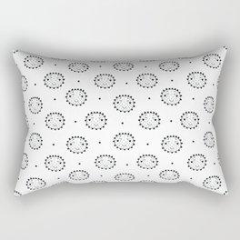 black and white Scandinavian Nursery Prints patterns Rectangular Pillow