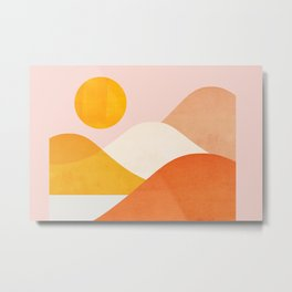 Abstraction_Mountains_Minimalism_001 Metal Print