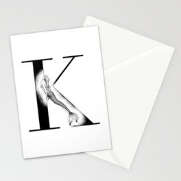 Mermaid Alphabet - K Stationery Cards