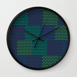 Polka Dot Patchwork Wall Clock