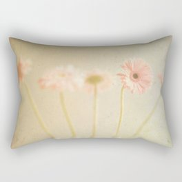 Textured Flowers (vintage flower photography) Rectangular Pillow