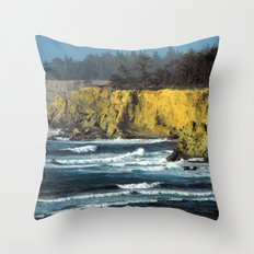 Oregon Surf Throw Pillow