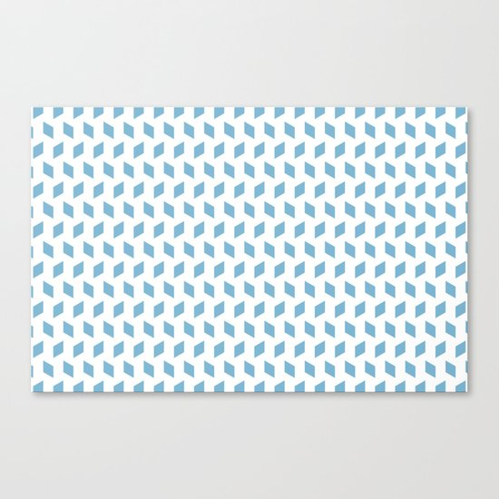 rhombus bomb in dusk blue Canvas Print