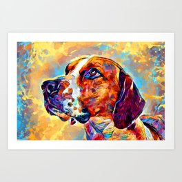 English Foxhound Art Print