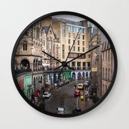 Victoria Street in Edinburgh, Scotland Wall Clock