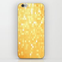 pixel iPhone & iPod Skins featuring Golden pixeLs by 2sweet4words Designs