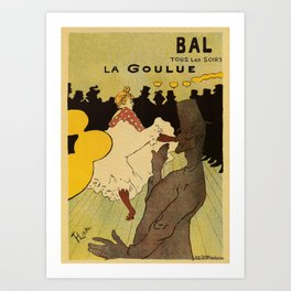 Paris nightlife 1891 Toulouse Lautrec Art Print