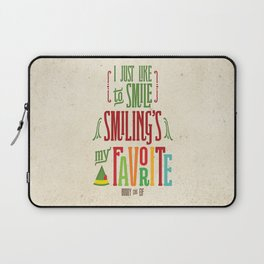 Buddy the Elf! Smiling's My Favorite! Laptop Sleeve