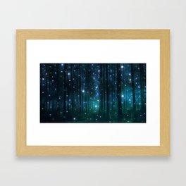 Glowing Space Woods Framed Art Print