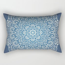 Mandala dark blue Rectangular Pillow