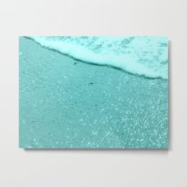 Sparkling Aqua Beach Metal Print
