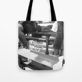 through to tabac Tote Bag