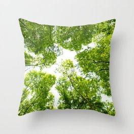 New green leaves Throw Pillow