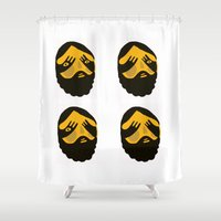 faces Shower Curtains featuring Faces by menulis 0