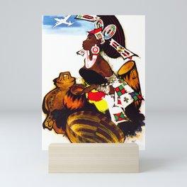 Africa  - 1960s Scandinavian Vintage Travel Poster Mini Art Print