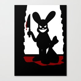 Bloody Bunny Canvas Print