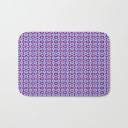 Pink, Purple, and Blue Low Poly Pattern Bath Mat