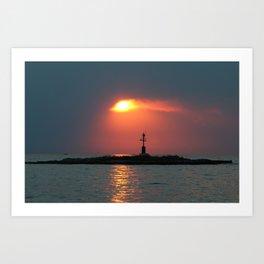 Sunset in Porec - Cloudy sky Art Print