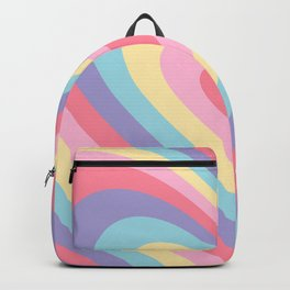 Colorful rainbow hearts Backpack