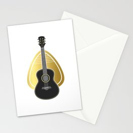 Guitar Pick Bass Guitar Stationery Cards