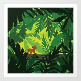 Lion King - Simba Pattern Art Print