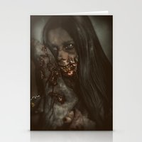 gore Stationery Cards featuring Gore Girl by rob_benevides_fx