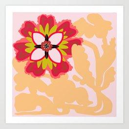 Gracefully awkward flower Art Print