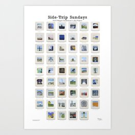 Side Trip Sundays: 52 Weeks of Landscape Watercolor Paintings Art Print