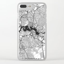 Canberra Map Gray Clear iPhone Case