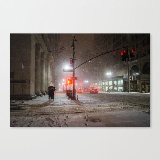 New York City Snow Romance Canvas Print