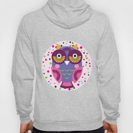 funny colored owls on a turquoise background Hoody