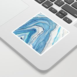 AGATE Inspired Watercolor Abstract 02 Sticker