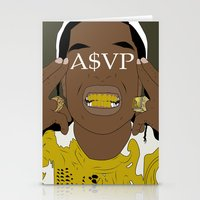 asap rocky Stationery Cards featuring ASAP Rocky by ashakyetra
