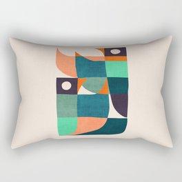 Two birds dancing Rectangular Pillow