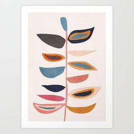 Abstract Plant Art Print