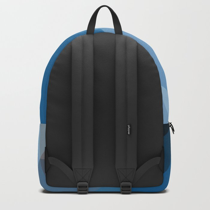 Shades Of Blue Triangle Abstract Backpack