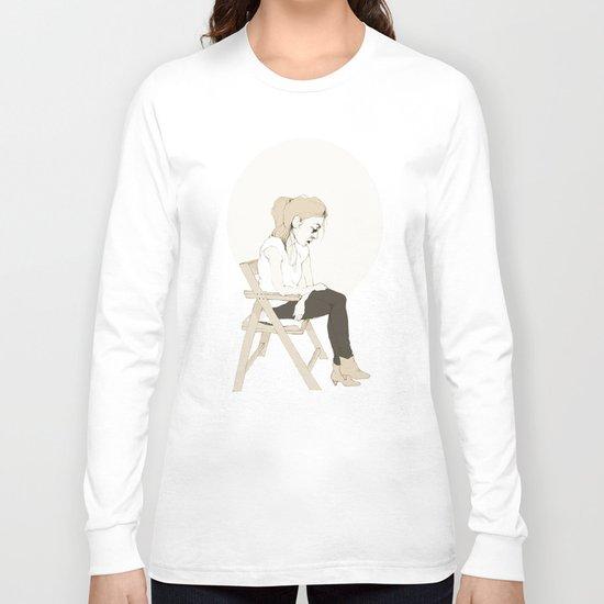 girl sitting Long Sleeve T-shirt