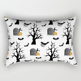 Haunted Graveyard Forest Rectangular Pillow