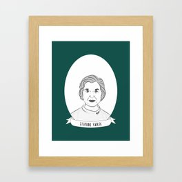 Stephanie Kwolek Illustrated Portrait Framed Art Print