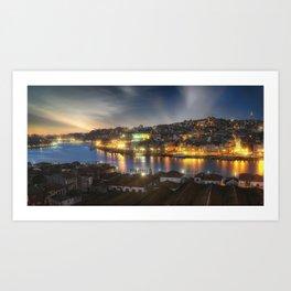 Panoramic Porto Potugal Art Print