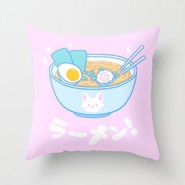 Cute Ramen Throw Pillow